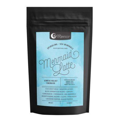 Nutra Organics Mermaid Latte (Spirulina & Sea Minerals - Blue Matcha Chai) 90g Powder
