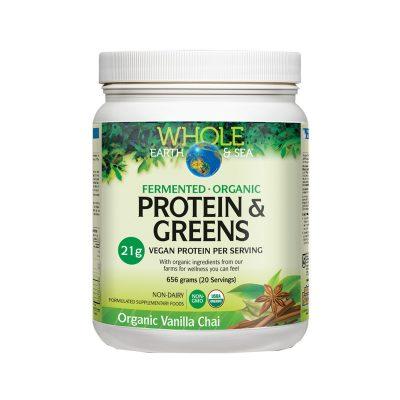 Whole Earth & Sea Protein & Greens Organic Vanilla Chai 656g